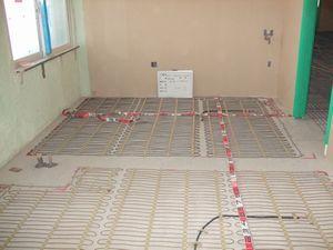 施工写真 コンクリート蓄熱式1